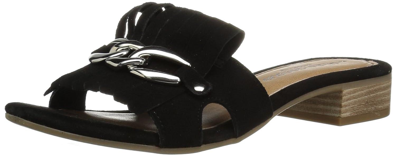 André Assous Women's Vivien Slide Sandal B077KBVJXR 7 M US|Black Suede