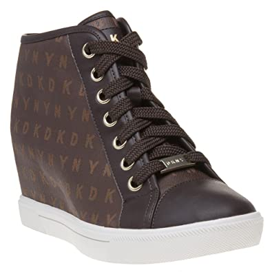 bbe4e21fe73 DKNY Cindy Sneaker Wedge Trainers Brown  Amazon.co.uk  Shoes   Bags