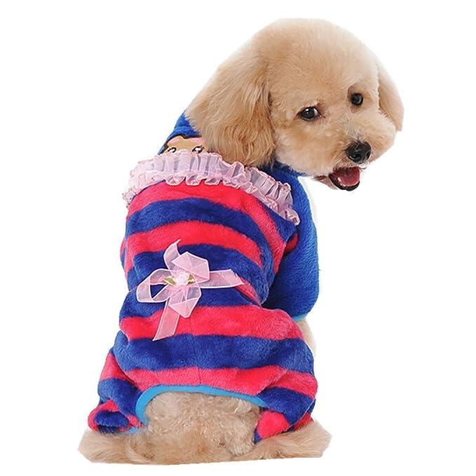 zolimx® Ropa para Perros Pequeño, Mascotas Accesorios Gatos Apparel Camisetas a Rayas Polar Suéter Ropa Caliente Suéter de Invierno: Amazon.es: Ropa y ...