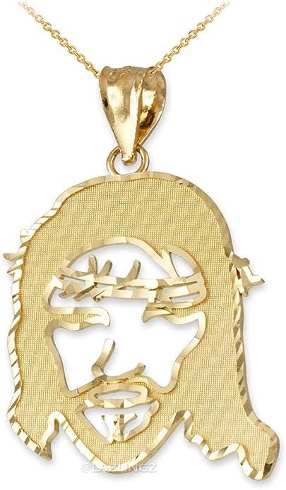 LA BLINGZ 10K White Gold Filigree Alphabet Initial Letter A DC Pendant Necklace