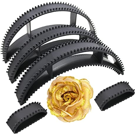 Hair Accessories Bumpits for Hair Styling With Golden Rose Tic Tac Clip (Combo Of 6 Pcs) Styling available at Amazon for Rs.219
