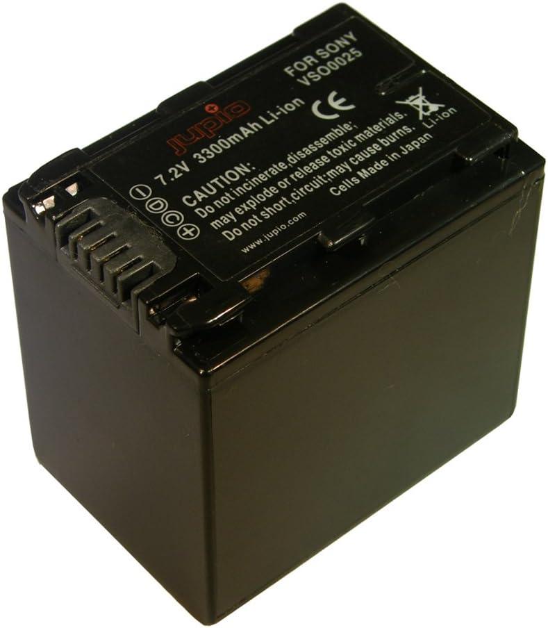 Jupio VSO0028 Lithium Ion, 7400 mAh Bater/ía para videoc/ámara Equivalente a Sony NP-F970