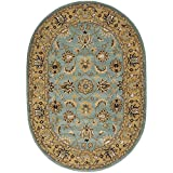Safavieh Heritage Collection HG958A Handcrafted Traditional Oriental Blue and Gold Wool Oval Area Rug (7'6″ x 9'6″) Review