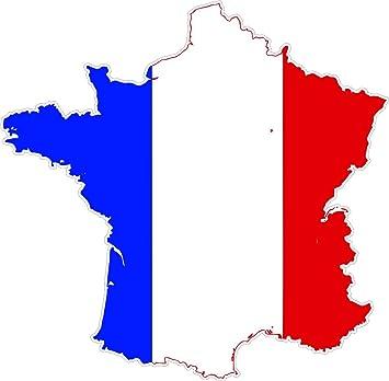 Autocollant sticker adhesif voiture vinyle drapeau carte france français