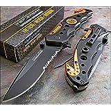 TAC FORCE KNIVES Assisted Opening Rescue Knives BLACK ORANGE EMT Tactical Knife 1 Knife