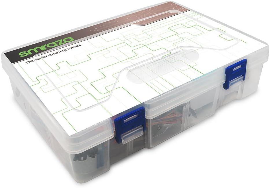 smraza nuevo Super Uno Starter Kit con detallada PDF Tutorial, uno r3 Junta, 1602 LCD, sensores módulos Motor Servo para Arduino UNO R3 Mega2560 Nano Robot (31 de ...