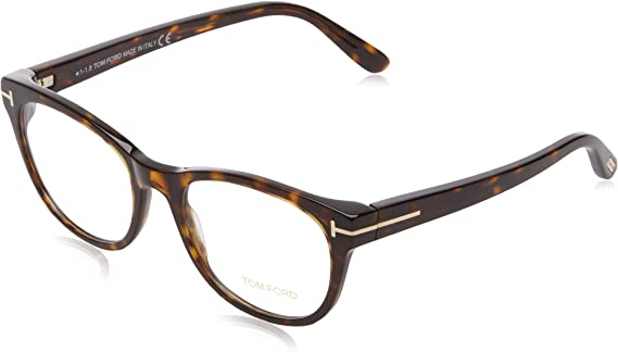 Tom Ford Square Eyeglasses TF5196 052 Size 53mm Havana