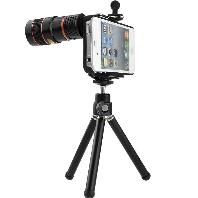 optake 8 x smartphone iPhone Teleobjetivo zoom óptico telescopio ...