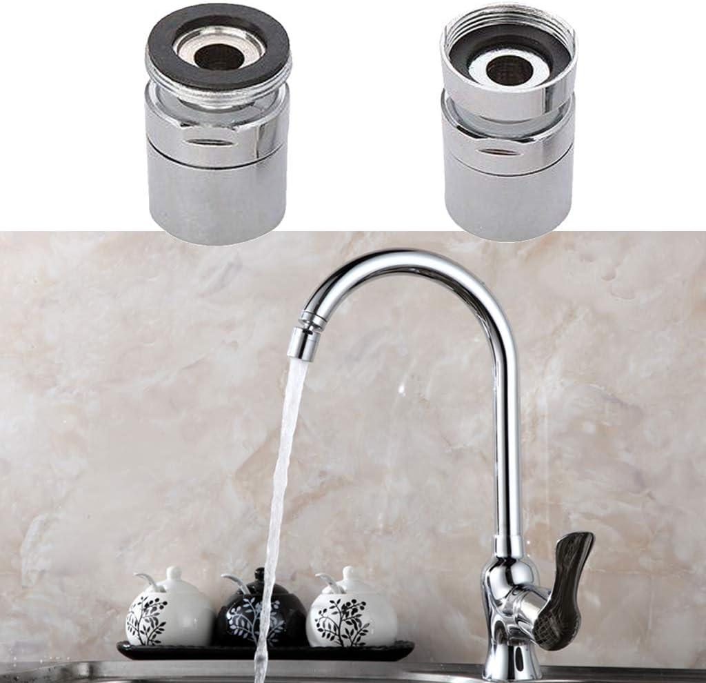 ZJfloral A/érateur de robinet pivotant en laiton /Économie deau Robinet A/érateur de robinet avec pivot /à 360 degr/és 1