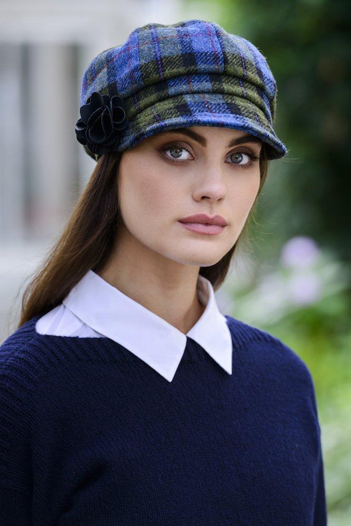c6f87d662c9 Womens Newsboy Cap 100 % Black Wool Irish Made Mucros