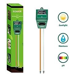 Sonkir MS02 3-in-1 Soil Moisture Meter