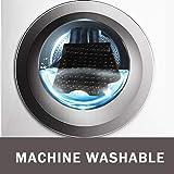 Wimaha XL Bathtub Mat, Bath Shower Mat Non Slip for Bathroom, Machine Washable, Ideal for Kids Toddler Senior, 39 x 16, Black