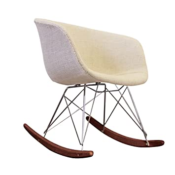 Awe Inspiring Scandi Style Rocking Chair Retro Plastic Tub Seat With Huge Choice Of Colours And Natural Or Walnut Wood Finish Cream Fabric Walnut Stained Evergreenethics Interior Chair Design Evergreenethicsorg