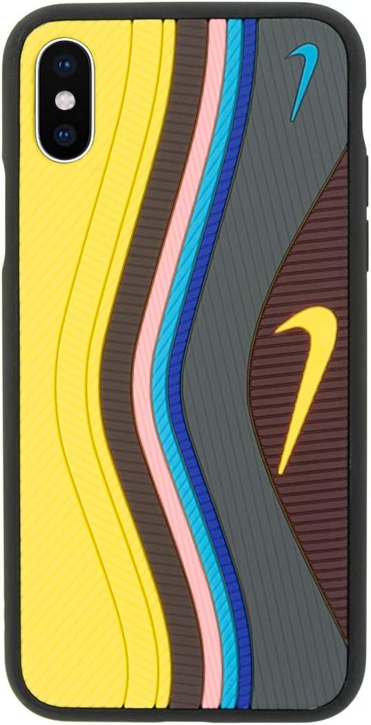 Coque pour iPhone 3D chaussure Air Max 97, Absorption des chocs Iphone X jaune