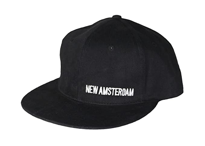 284914a5a74 New Amsterdam Vodka Skater Style Hat w Flat Bill Black at Amazon ...