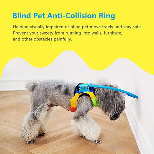 Seguro para mascotas Arnés de halo para perros ciegos Anillo de ...