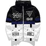 AITFINEISM Men's Lightweight Windbreaker Casual Drawstring Hooded Zip Jackets