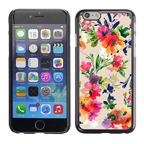 Soft Silicone Rubber Case Hard Cover Protective Accessory Compatible with Apple iPhone? 6 (4.7 Inch) - flowers vintage drawing wallpaper blossoms