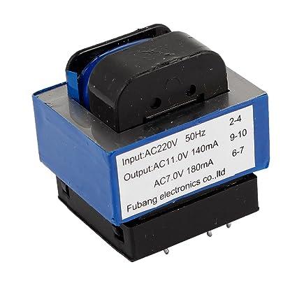 AC 220V a 314/7V 140mA/180mA 7-pin Horno De Microondas Transformador