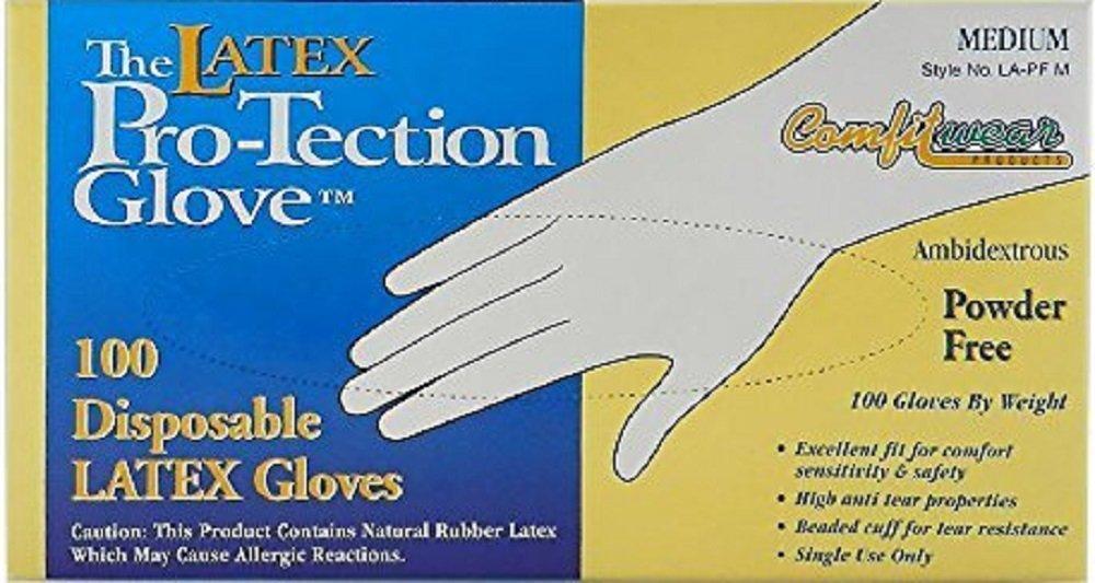 使い捨てラテックス手袋、パウダーフリー、サイズ: Small 500 Count Comfitwear B072N1SMQZ  500 Count
