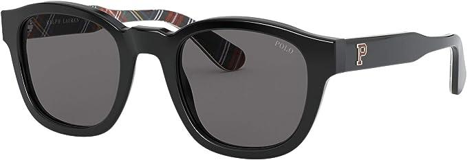 Polo Ralph Lauren PH4159 500187 Black PH4159 Square Sunglasses ...