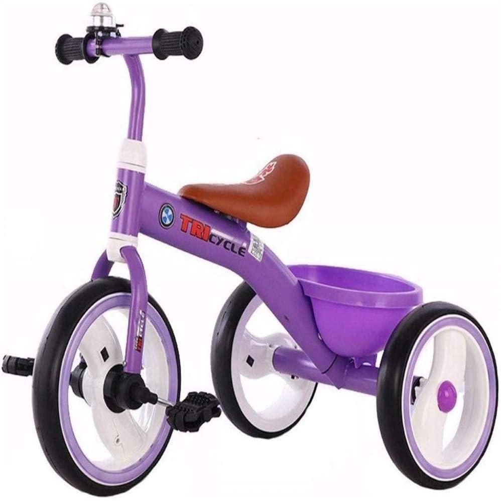 AJH Bicicletas mecedoras Caballo Trikes Triciclo niños pequeños niños Triciclo Marco de la Campana del Cochecito Bicicleta clásica Apto para niños 1-3-6 años de Edad