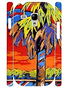 Special Girly Oil Painting Theme Dust Protection Phone Case for Samsung Galaxy S3 Mini I8200