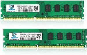 16GB Kit (2X8GB) DDR3 DDR3L 1333MHz UDIMM 8GB PC3 PC3L 10600 10600U 2RX8 RAM CL9 1.35V 240-Pin Non-ECC Unbuffered Desktop Memory