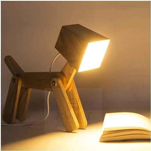 Kundi LED Table lamp Modern Cute Dog Study Lamp for Children White Light