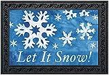 """Let It Snow! Winter Doormat Snowflakes Indoor Outdoor 18"""" x 30"""" Briarwood Lane"""