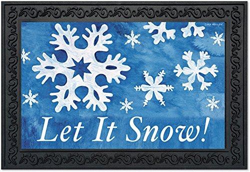 Winter Snowflake Snow (Let It Snow! Winter Doormat Snowflakes Indoor Outdoor 18