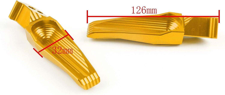 Arri/ère Metal P/édale Moto Repose Pied avec Supports Footrest Footpeg pour Yamaha TMAX500 TMAX 530 XP530 XP500 MT07 MT09 Artudatech Repose-pieds