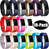 For Fitbit Charge 2 Strap Bands, HUMENN Charge 2 Strap Soft Adjustable Replacement Sport Wristband for Fitbit Charge2 S & L, Multi Colours Styles