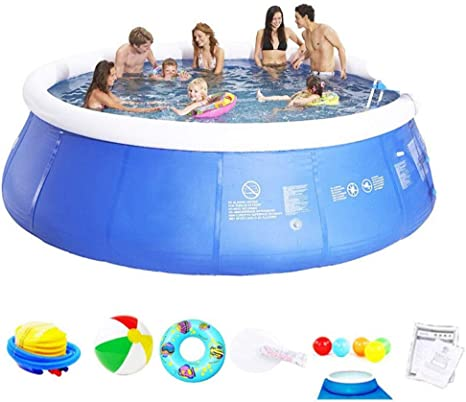 AMhuui Piscina Inflable, Swim Center Family Kiddie Pool Family Lounge Pool, para la Familia, jardín, al Aire Libre, Patio Trasero,3.6 * 0.76m: Amazon.es: Deportes y aire libre