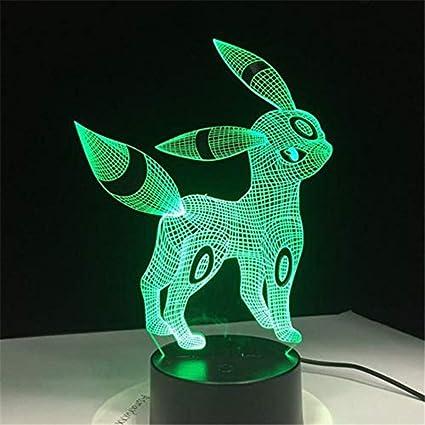 Hydyi Pokemon Umbreon 3d Acrylique Night Light Usb Sommeil