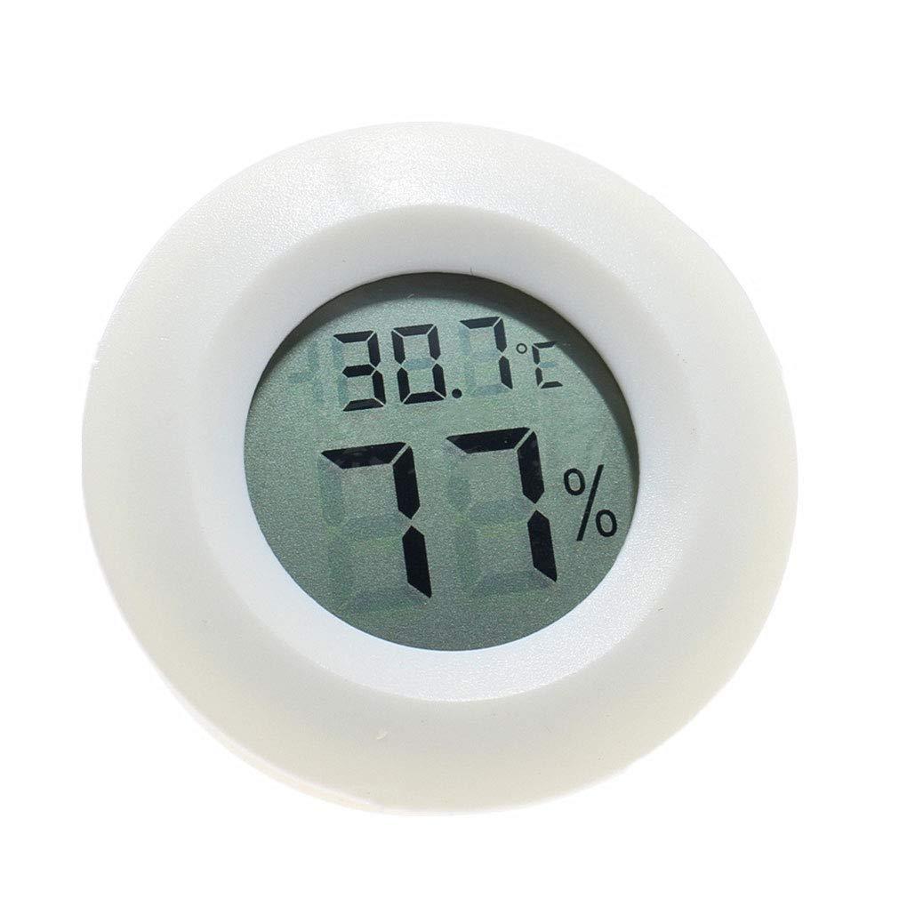 Bomcomi Pratico Display LCD Mini Meter Digitale Indoor Rotonda del termometro di umidit/à di Temperatura igrometro Mini