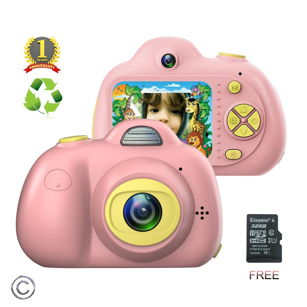 Kids Camera for Girls or Boys - Anti-Drop Kid Digital Camera with Soft Silicone Shell and 8 Mega Pixel Dual Lens 2.0 inch HD Screen