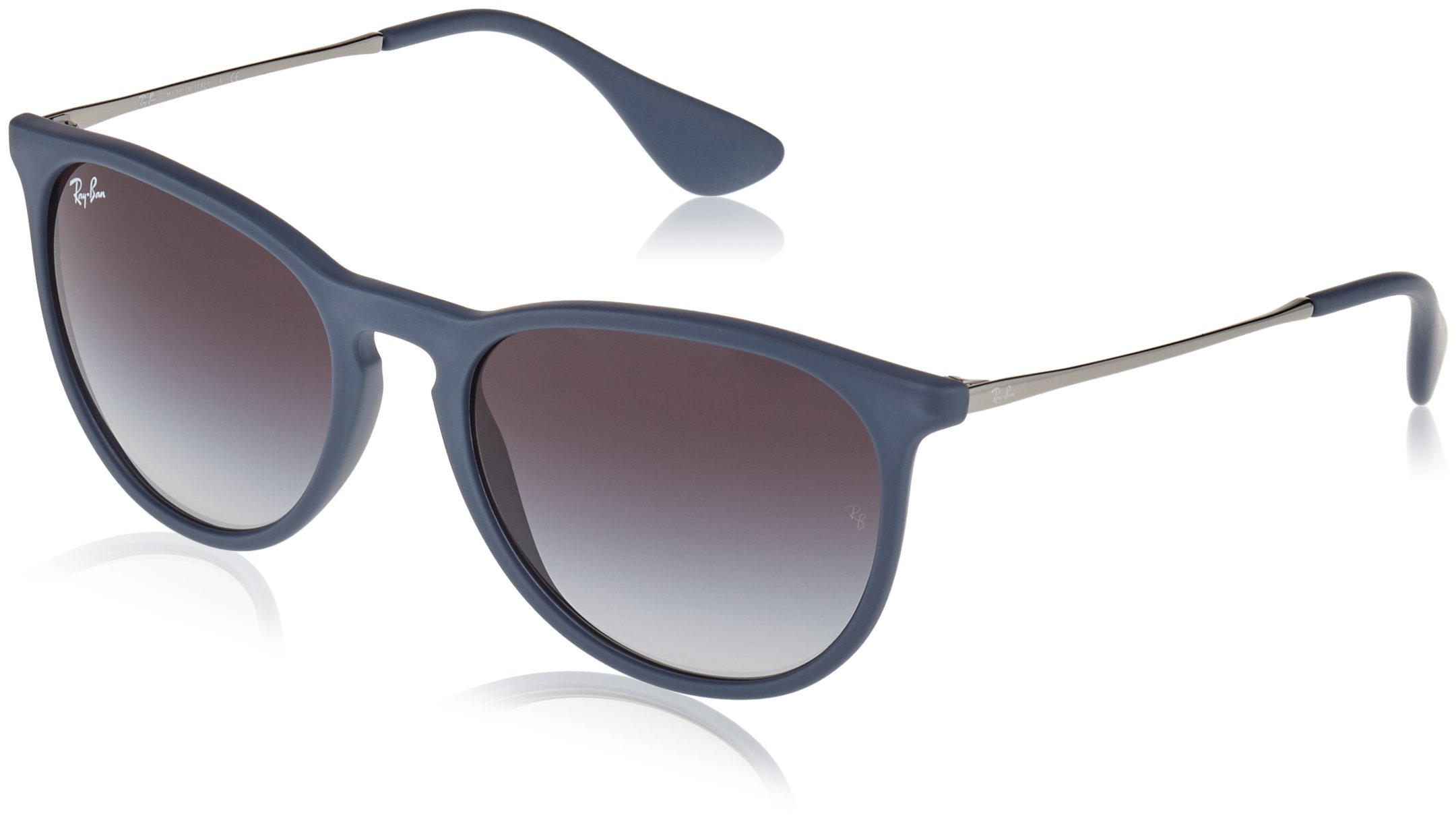 Ray-Ban ERIKA - RUBBER BLUE Frame GREY GRADIENT Lenses 54mm Non-Polarized