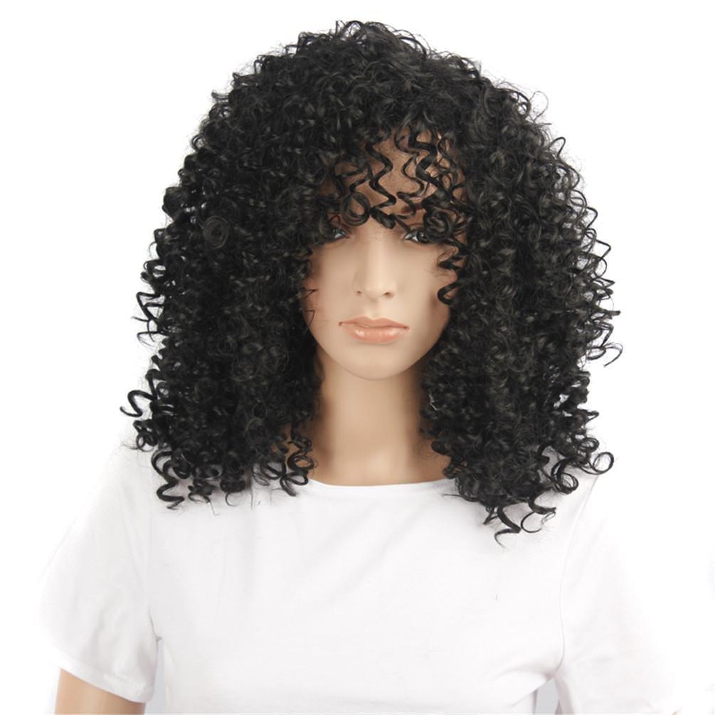 Europa e Stati Uniti soffici capelli lunghi esplosiva testa fibra lunghi ricci parrucca