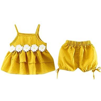 fda8bebba Conjuntos Para Bebé NiñAs DRESS Start® Blusa Camiseta Tops Chaleco Linda  Encaje ImpresióN De Maya