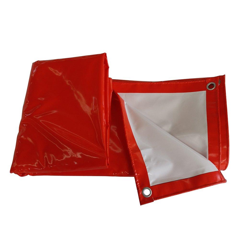 ふわふわ 雨布 防水、 日焼け止め、 防風 サンシールド アウトドア 車、 トラック ヤード シェッドクロス PVC 赤+白,300 * 400Cm B07FYM6CWG 300*400cm  300*400cm