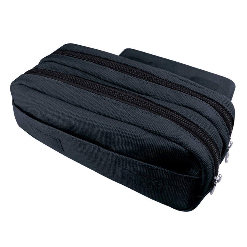 duradero Estuche para l/ápices de gran capacidad de 20 x 10 x 7,5 cm para estudiantes bolsa de maquillaje estuche para l/ápices papeler/ía con llavero organizador de escritorio con doble cremallera