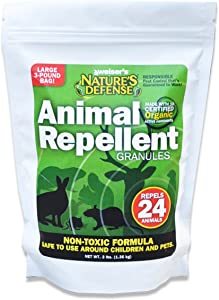 Bird-X Nature's Defense Organic All Animal and Pest Repellent, 44-Ounce, Covers 7,000 sq. ft.