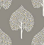 A-Street Prints 2702-22706 Grove Grey Tree Wallpaper,