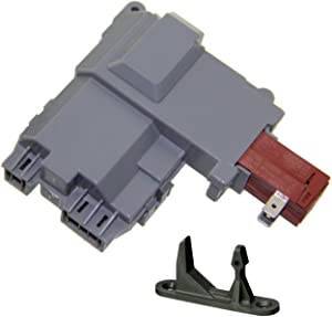 131763202 Washer Door Lock Switch & with 131763310 Striker for Electrolux & Frigidaire and Kenmore 41724182301 131269400 131763200 1317632