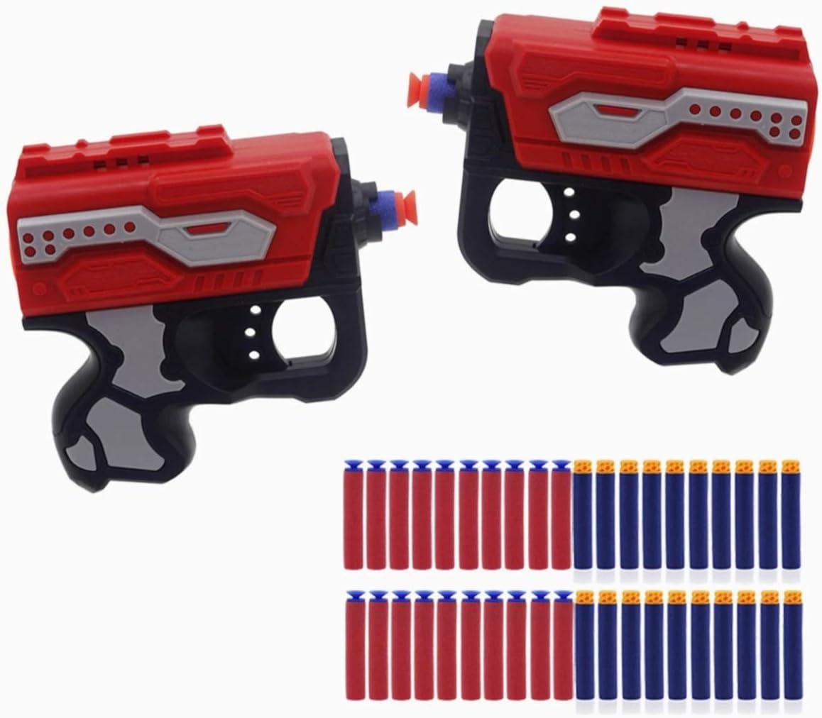 XIAOKEKE Mini Pistola De Bala Suave, Pistola De Juguete De Ondas De Choque para Niños, Pistola De Juguete De Bala De Espuma con 20 Dardos De Espuma Suave, Adecuada para Niños Y Niños Juegos De Armas