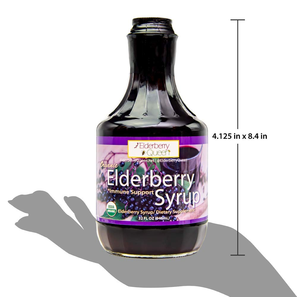 Organic Elderberry Liquid Syrup by Elderberry Queen- Sambucus, Aronia Berry, Pure Natural Certified Organic Immune Support Herbal Supplement (32oz) by Elderberry Queen (Image #6)