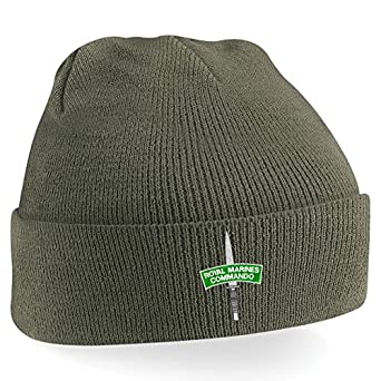 Embroidered Royal Marine Commando Beanie Hat - Cap  Amazon.co.uk  Clothing fa6b22541ea