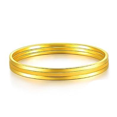 af400ff8bd2 GOWE 24k Pure Gold Bangle For Women Female Trendy Fashion Smooth ...