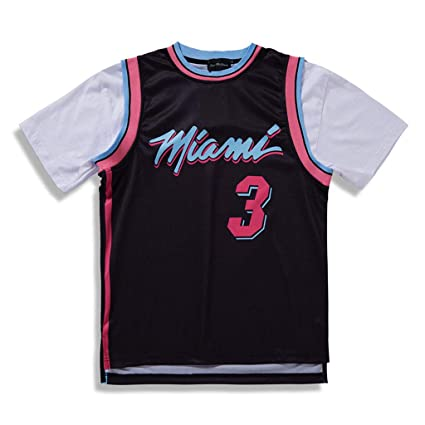 buy popular 3157a 83a14 Miami Heat informal de Manga Corta Camiseta, Hombres Retro ...